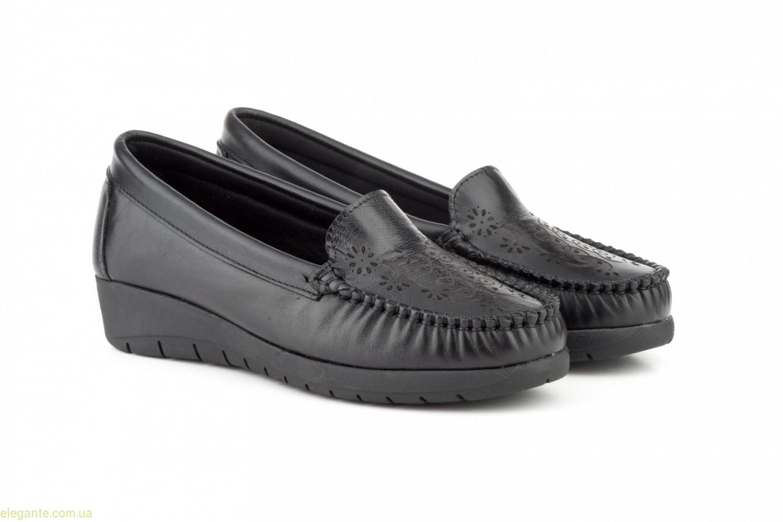 Женские туфли на танкетке ANTONELLA чёрные 0