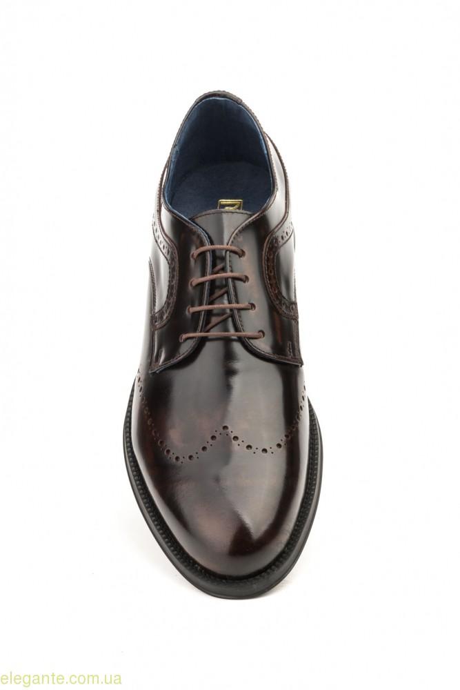 Чоловічі туфлі дербі SCN3 коричневі 0