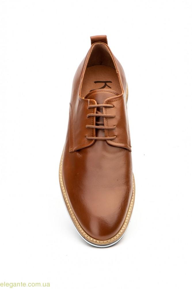 Мужские туфли дерби гладкие KEELAN коричневые 0