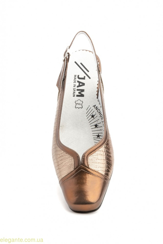 Жіночі туфлі JAM бронзові 0