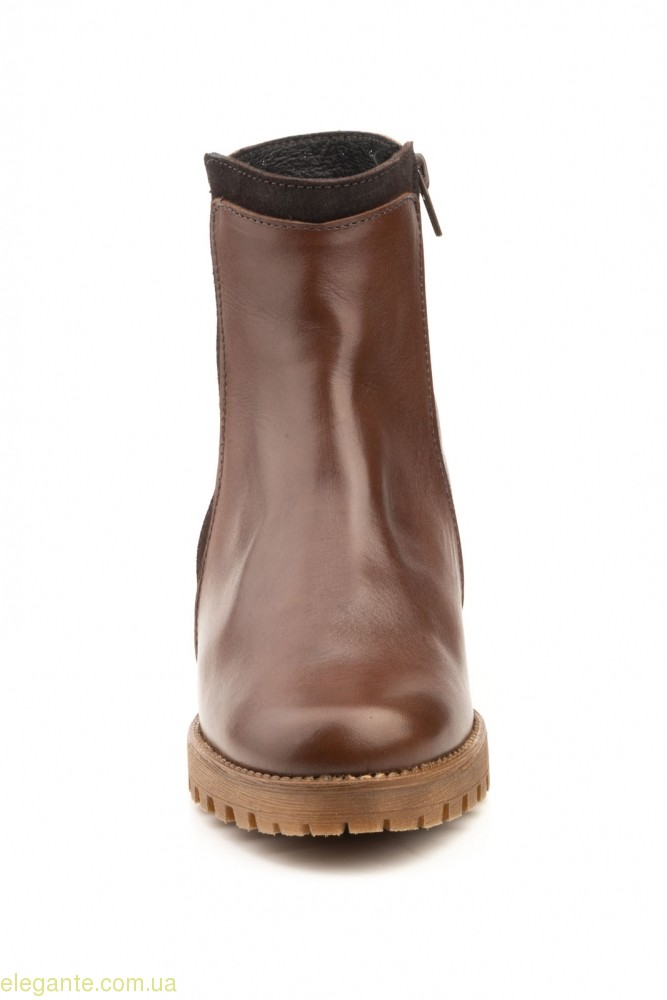 Женские ботинки с заклепками JAM коричневые 0