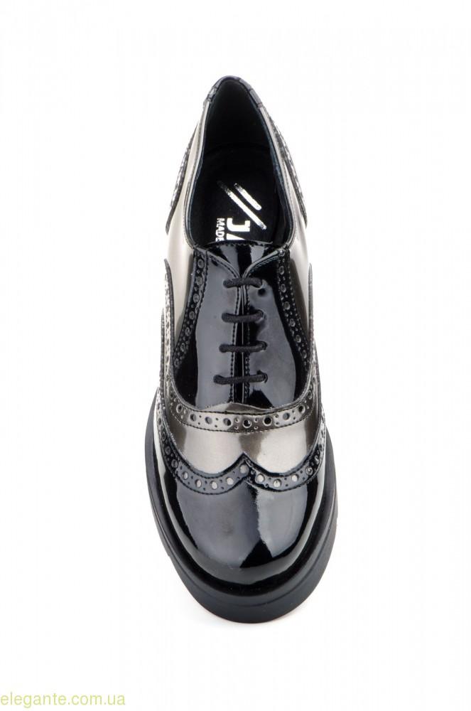 Женские туфли  JAM PLATAFORMA цвет чёрный с свинцовым 0