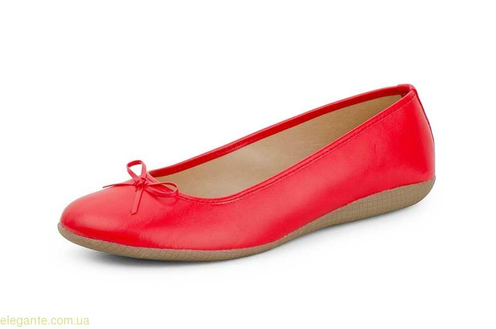 Женские балетки  MISTRAL красные 0