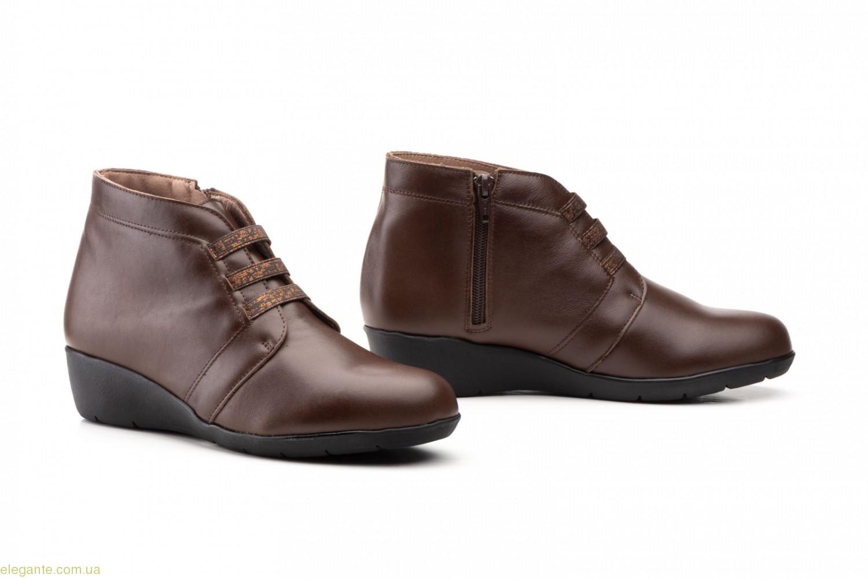 Жіноччі черевики на танкетці Alto Estilo коричневі 0
