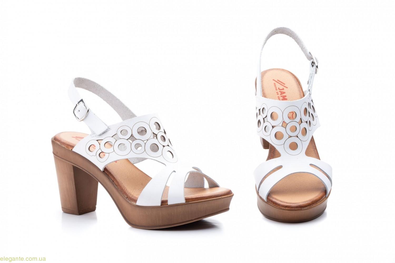 Женские босоножки на каблуке JAM1 белые 0