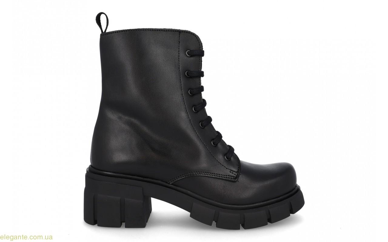 Женские ботинки на каблуке JARPEX чёрные 0