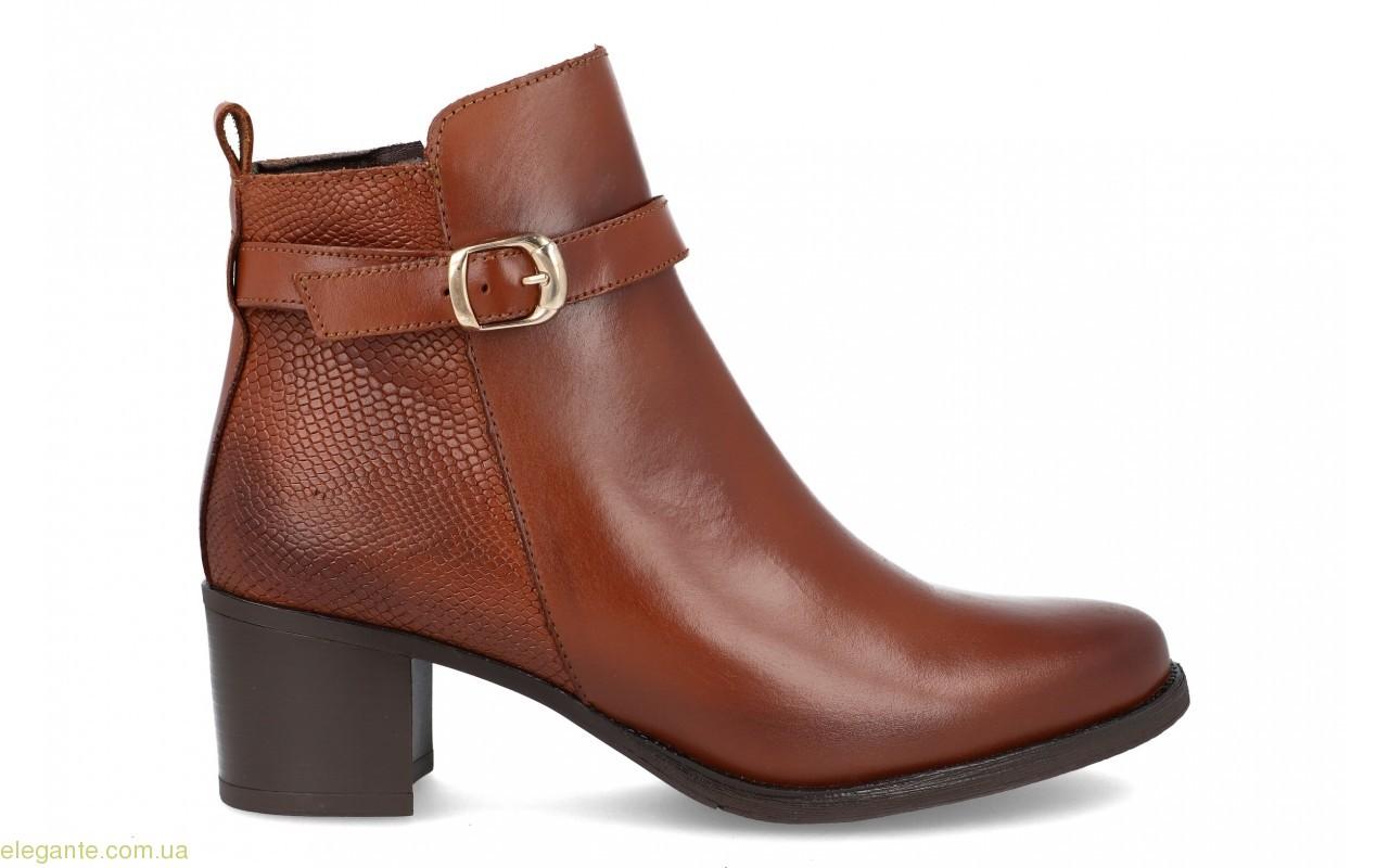 Женские ботинки на каблуке JPX коричневые 0