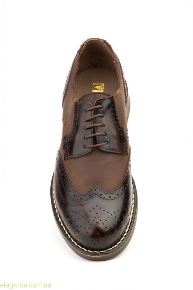 Чоловічі туфлі перешиті SCN коричневі 0