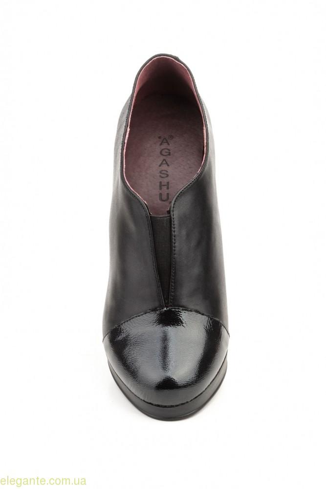 Женские туфли на каблуке Agatha Shoes чёрные 0