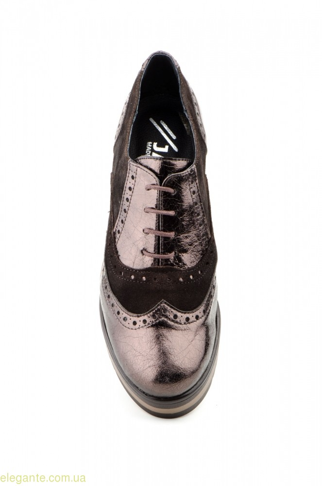 Женские кожаные туфли JAM коричневые 0