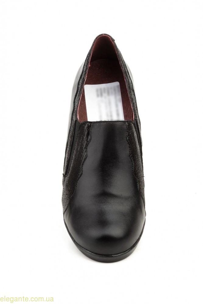 Женские туфли на каблуке GAVIS чёрные 0