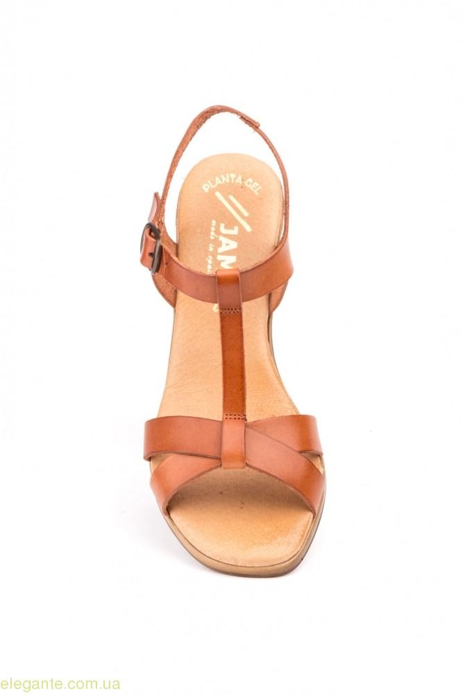 Жіночі босоніжки на каблуку JAM1 коричневі 0