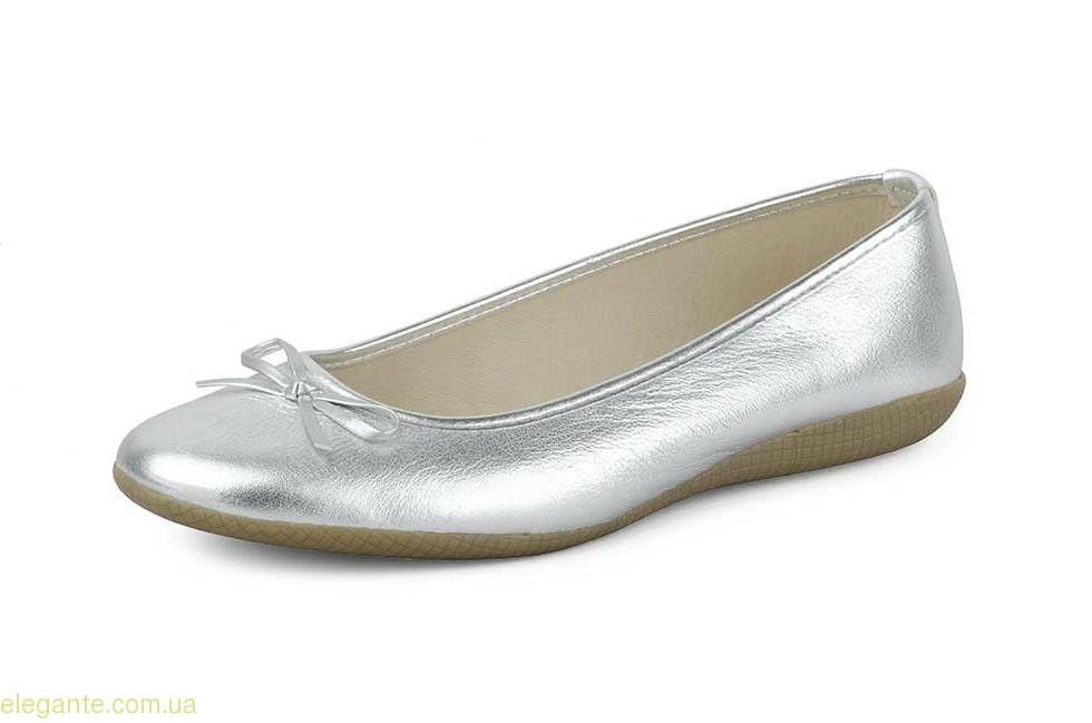 Жіночі балетки MISTRAL срібні 0