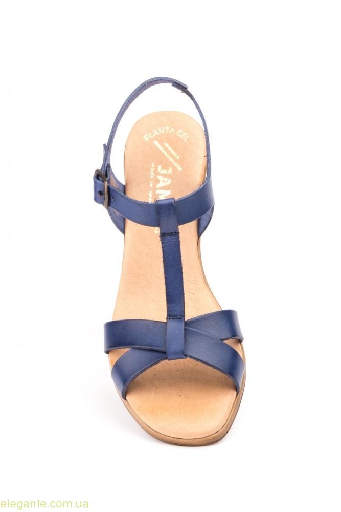 Жіночі босоніжки на каблуку JAM1 сині 0