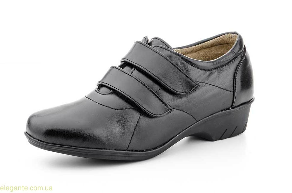Жіночі туфлі на липучці JAM чорні 0