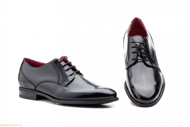 Чоловічі туфлі дербі KEELAN чорні класичні 0