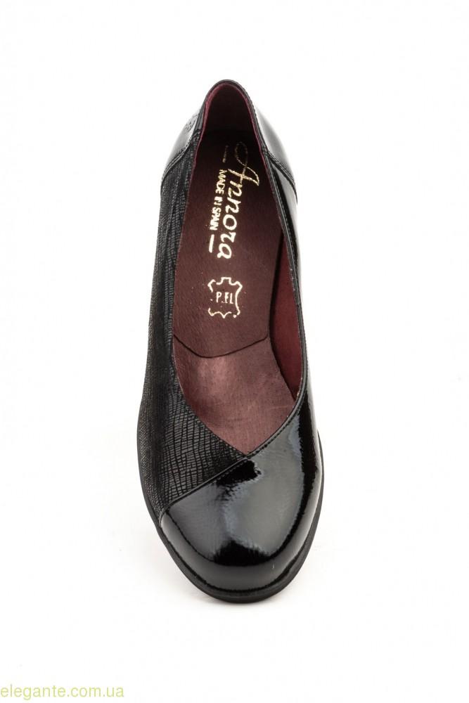 Женские туфли на танкетке ANNORA чёрные 0