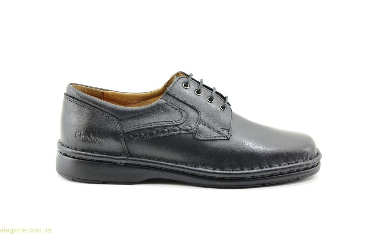 Чоловічі туфлі CACKOY xxl чорні 0