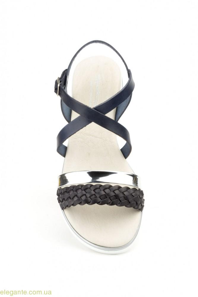 Жіночі босоноіжки JAM сині з срібним 0