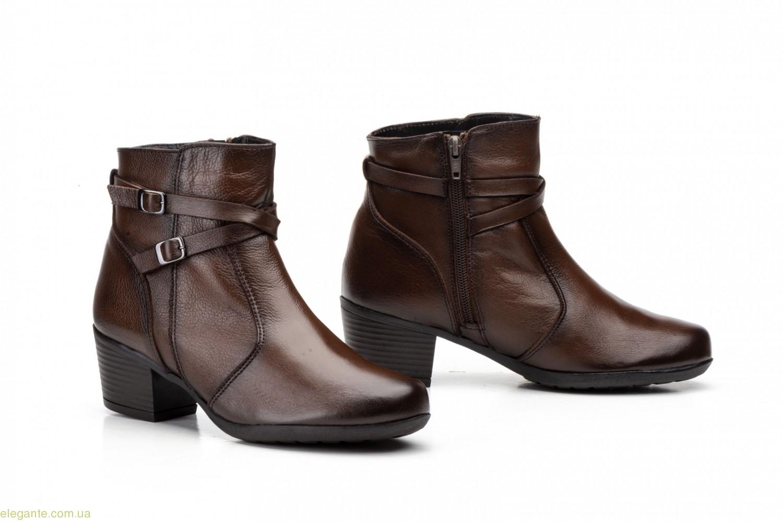 Женские ботинки на каблуке JAM2 коричневые 0