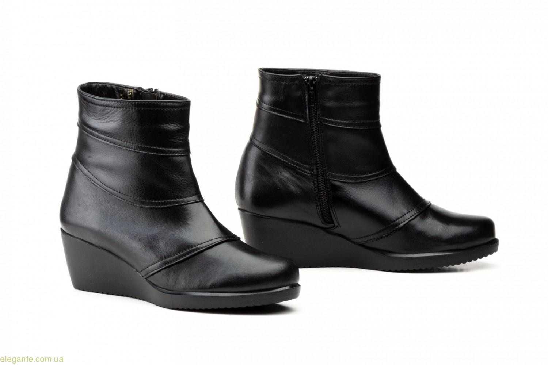 Женские ботинки на танкетке JAM1 чёрные 0