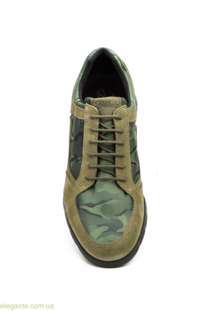 Мужские кросовки замшевые Diluis Militar зелёные 0
