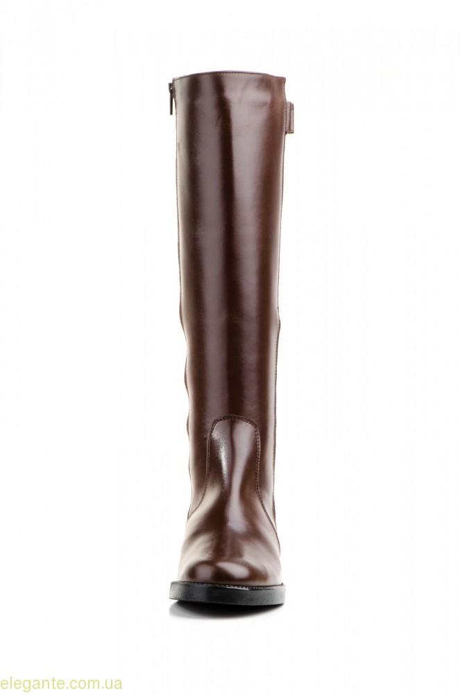 Женские сапоги еластические JAM  коричневые 0
