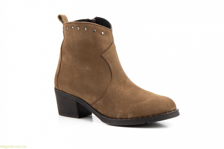 Женские ботинки с заклепками CASTOR коричневые 0