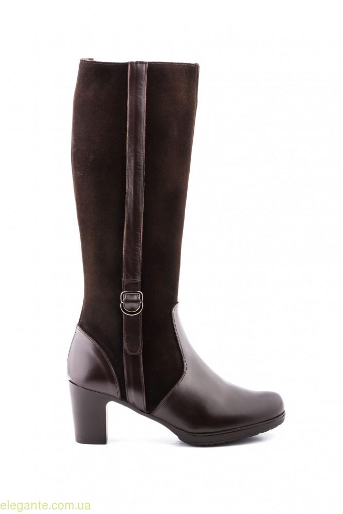 Жіночі чоботи на каблуку JAM коричневі 0