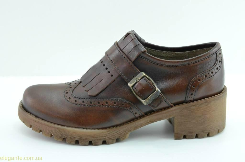 Жіночі туфлі на платформі YAKUS коричневі 0