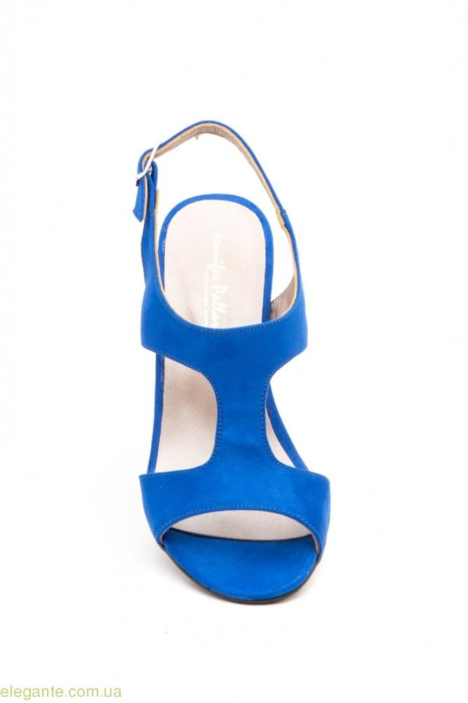 Жіночі босоніжки замшеві Jennifer Pallares сині 0