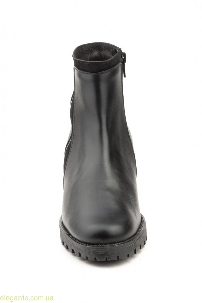 Женские ботинки с заклепками JAM чёрные 0