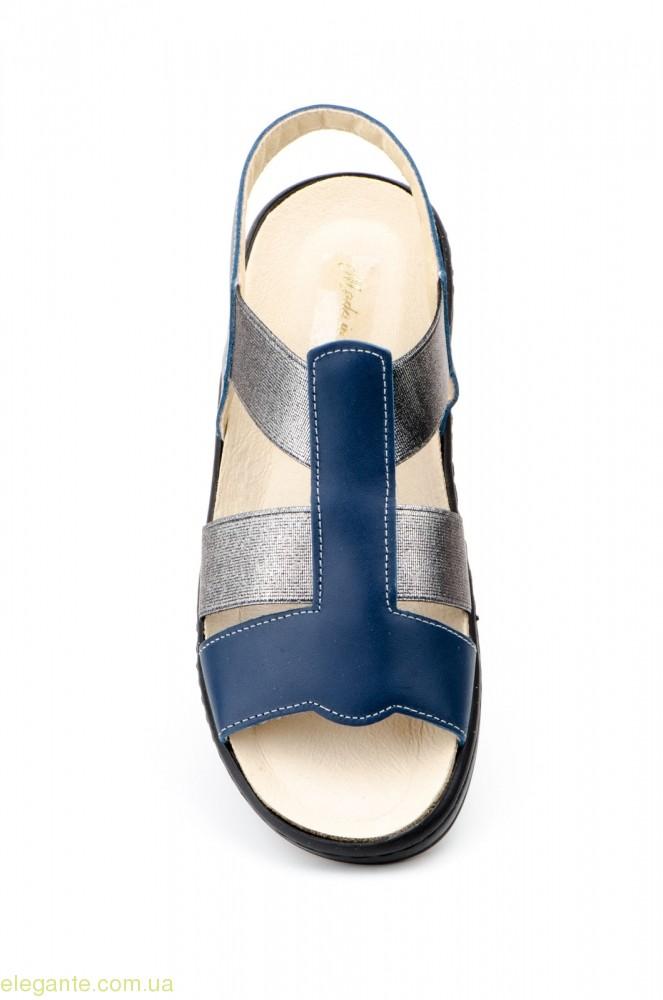 Жіночі анатомічні еластичні босоніжки CHIKA сині 0