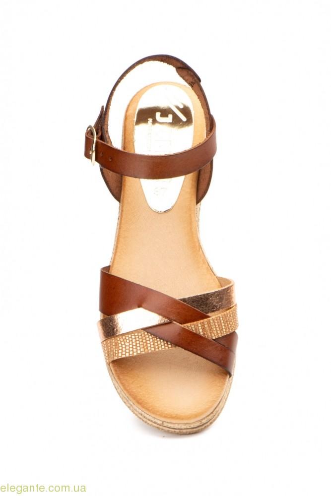 Жіночі босоніжки JAM Elisabeth коричневі 0