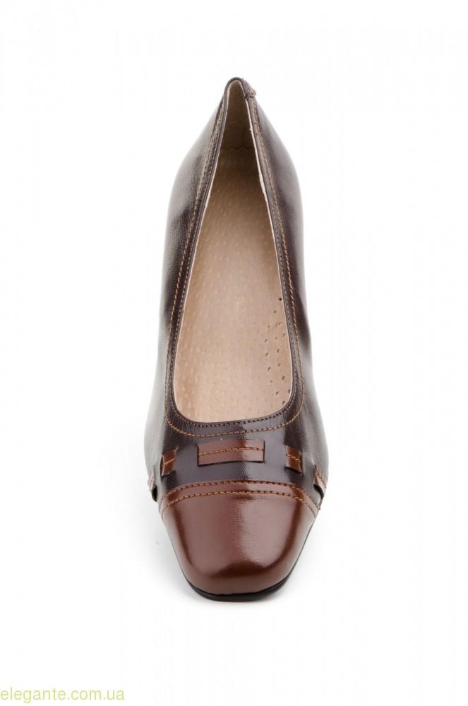 Жіночі туфлі на каблуку JAM2 коричневі 0