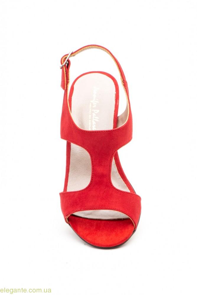 Женские босоножки замшевые Jennifer Pallares красные 0