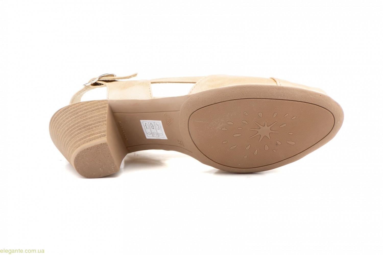 Жіночі босоніжки на каблуку JAM Cutillas бежеві 0