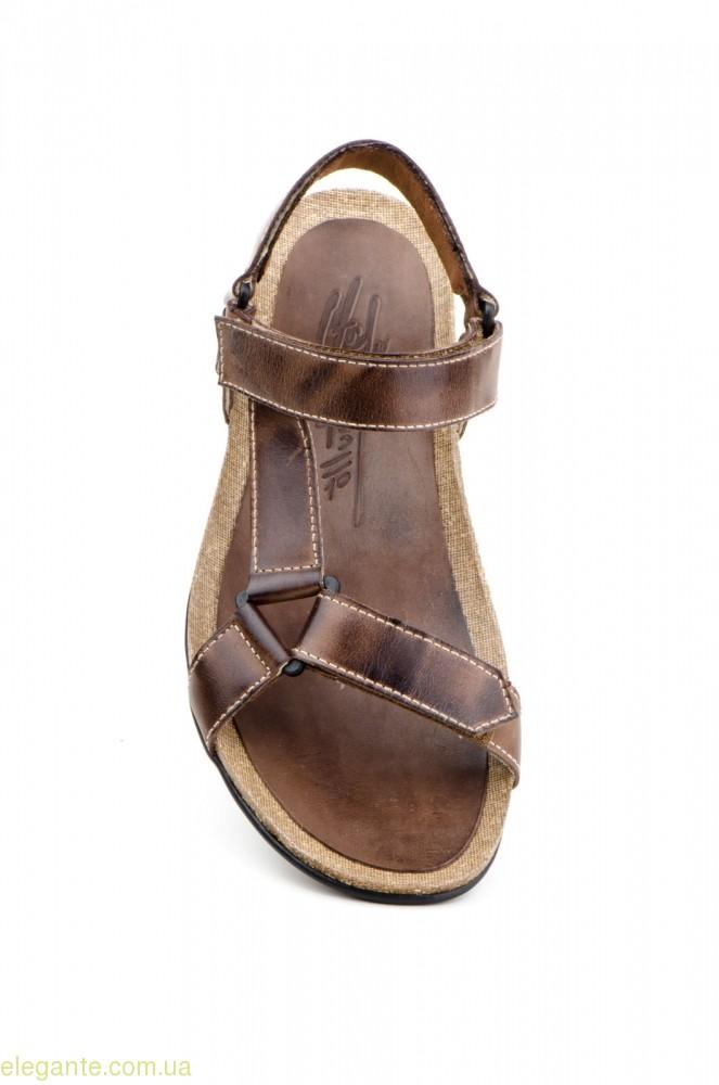 Мужские сандалии открытие PEPE AGULLO коричневые 0