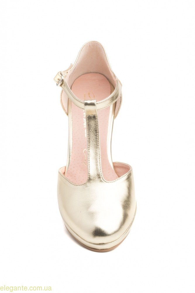 Женские туфли на каблуке ANNORA золотые 0