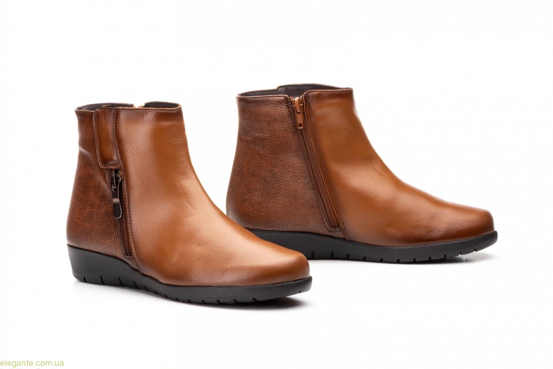 Женские ботинки на танкетке JAM2 цвет нат. кожи 0