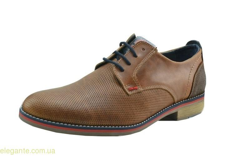 Чоловічі туфлі святкові DJ SANTA коричневі 0