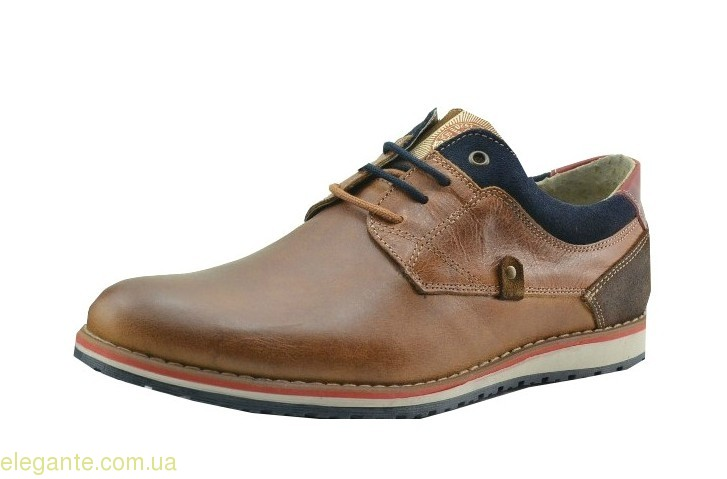 Чоловічі туфлі зручні щоденні DJ SANTA коричневі 0
