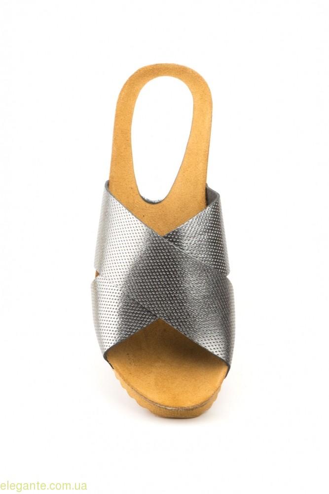 Жіночі шльопанці LIMON свинцевий колір 0
