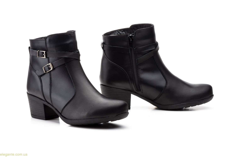 Женские ботинки на каблуке JAM2 чёрные 0