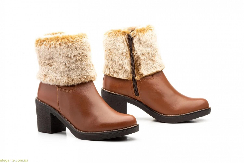 Женские ботинки с мехом JAM коричневые 0