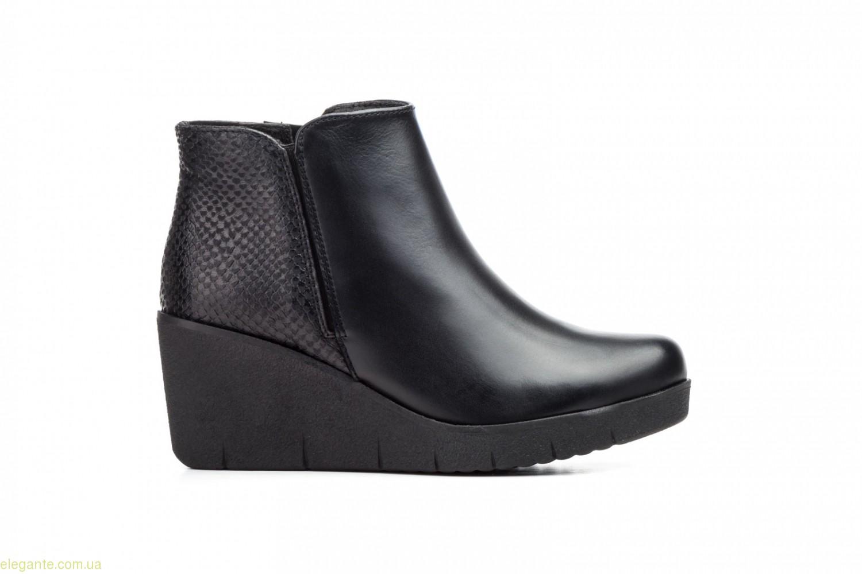 Женские ботинки на танкетке  JAM чёрные 0