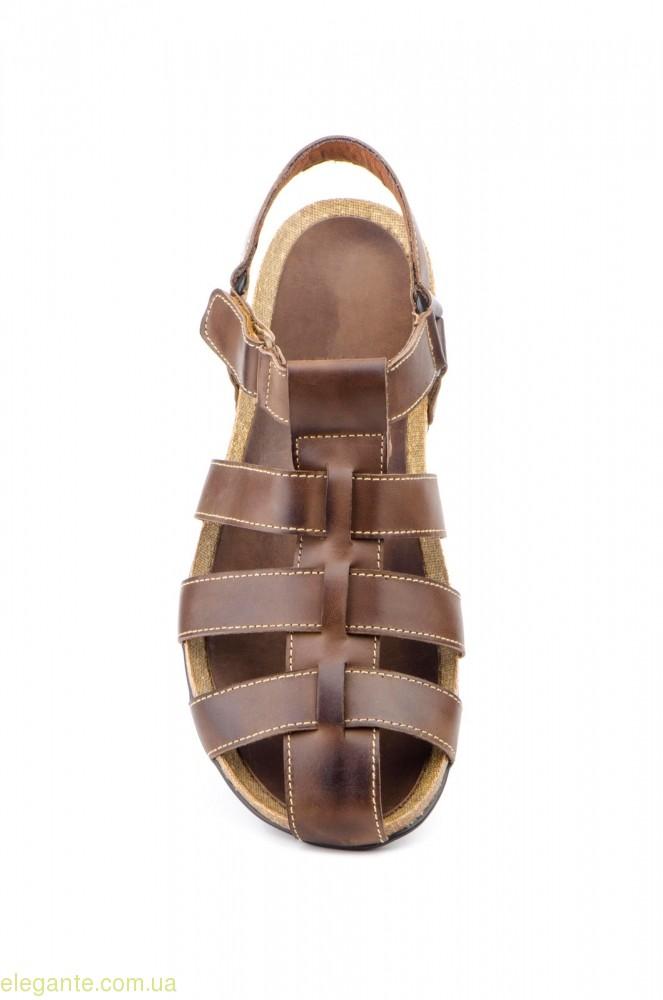 Мужские сандалии PEPE AGULLO коричневые 0