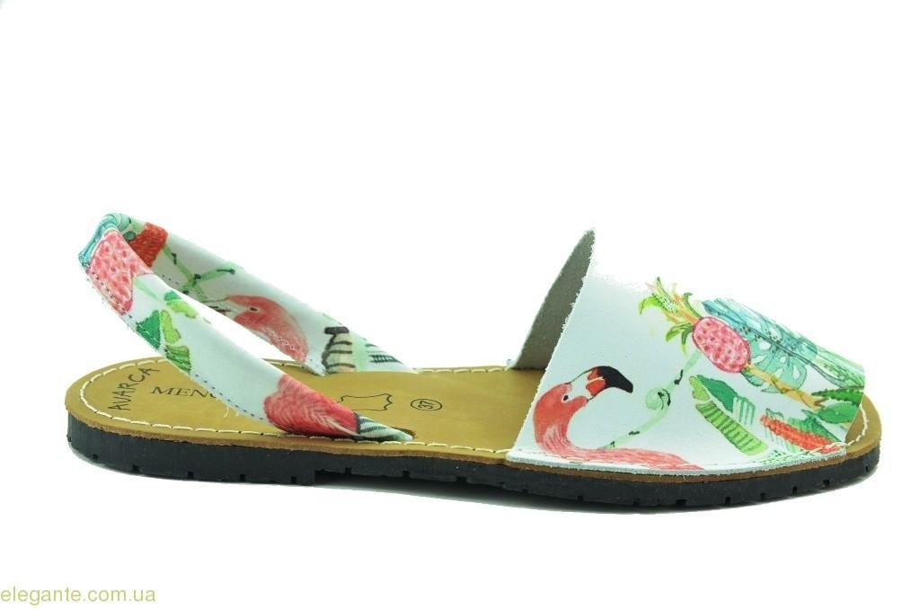 Женские босоножки абарки MENORQUINAS фламинго 0