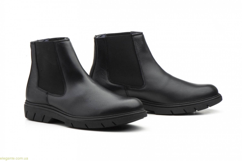 Мужские ботинки еластические Keelan чёрные 0