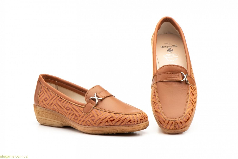 Женские туфли лоферы  Antonella коричневые 0